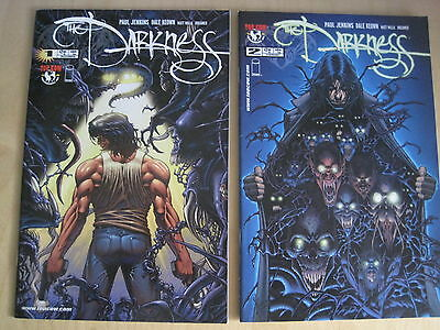 DARKNESS Vol 1 #s 1 & 2 by PAUL JENKINS & DALE KEOWN.. TOP COW / IMAGE . 2002
