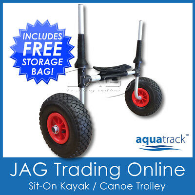 AQUATRACK SIT-ON-TOP KAYAK TROLLEY Collapsible Alloy - Canoe/Ski Carrier Cart
