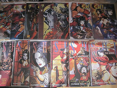SHI, The SERIES : COMPLETE RUN #s 1 - 13 by GOLDEN, BEDARD, LAU etc.1997.CRUSADE