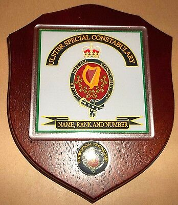 Ulster Special Constabulary Veteran Wall Plaque with name rank& number