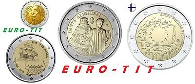 2 € FINLANDE / PORTUGAL/ ITALIE / FRANCE  4  X  COMMEMORATIVE   2015 disponibles