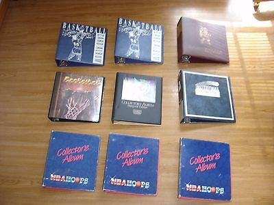 Lot of (8) USED Sports Trading Basketball Card Albums~ 3-Ring Binders - 105