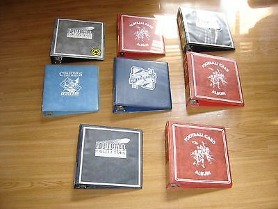 Lot of (8) USED Sports Trading Football Card Albums~ 3-Ring Binders - 110