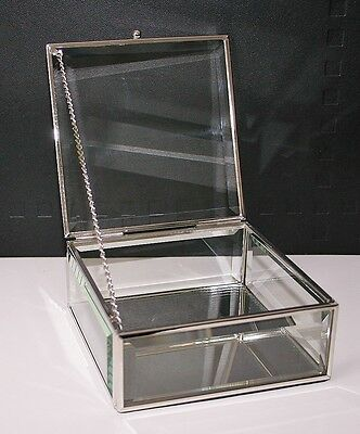 Excellent Quality Glass Trinket Box NEW AND BOXED