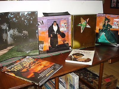 Set Of 3 Hollywood Legend Collection Gone With The Wind Barbies W/ Backdrop ++++