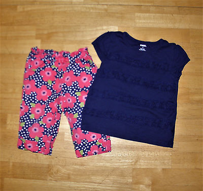 90d6643c8 Gymboree Blooming Nautical Blue Ruffle Top Cropped Pants Girls 2T Summer  Cotton