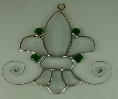 Handmade Stained Glass Ornament Clear Bevelled Sections MJ4