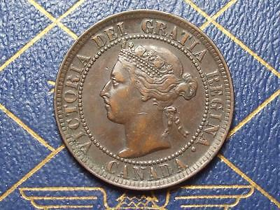 1896 CANADIAN LARGE PENNY QUEEN VICTORIA OLD BRONZE COIN LOT bx51