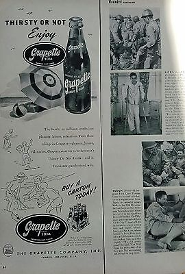 1950 Grapette soda thirsty or not enjoy bottle carton ad