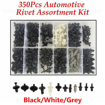 350pcs 12 Sizes Car Push Pin Rivet Trim Clip Panel Body Moulding Assortment Kit