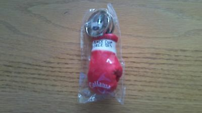 "Callaway Golf ""Face Cup Face Off"" Red/White Leather Boxing Glove KeyChain-NEW"