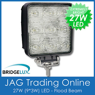 27W Led 12V~24V Square Flood/work/driving Lamp-Boat/utility/4X4/truck/deck Light