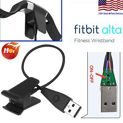Replacement USB Charging Charger Cable For Fitbit Alta Watch with Reset Button
