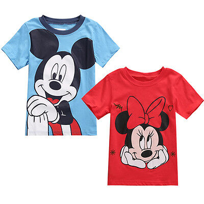 Personalized Mickey Mouse T-Shirt Toddler Kids Baby Boys Girls Tee Tops Clothes