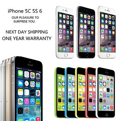 APPLE iPHONE 5C 5S 6 16GB 32GB FACTORY UNLOCKED SMARTPHONE EXCELLENT CONDITION