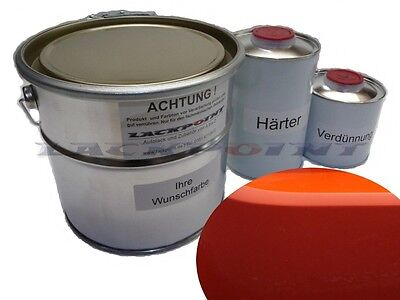 1 Liter Set 2K Car paint Known Orange no clear coat Lackpoint Tuning new
