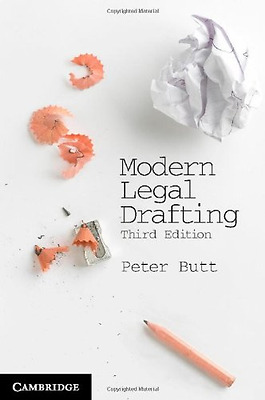 Modern Legal Drafting - Paperback NEW Peter Butt 2013-06-13