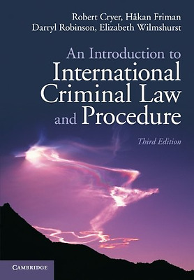 An Introduction to International Criminal Law and Proce - Paperback NEW Robert C