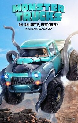 Monster Trucks - original DS movie poster - 27x40 D/S 2017 Advance