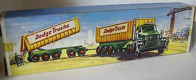 Repro Box Matchbox King Size K-16 Dodge Tractor with Twin Tipper Train