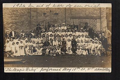 Abertillery - The Magic Ruby in aid of War Memorial - real photographic postcard