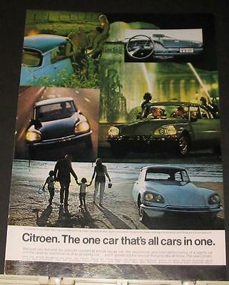 1969 Citroen one car that's all cars in one Ad