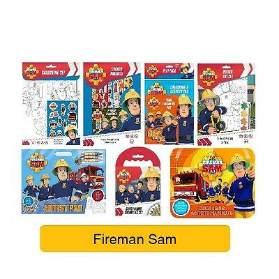 FIREMAN SAM - Colouring Stickers Activity Books Kids Party Gift Xmas