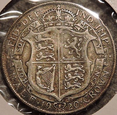 British Silver Half Crown - 1920 - King George V - $1 Unlimited Shipping