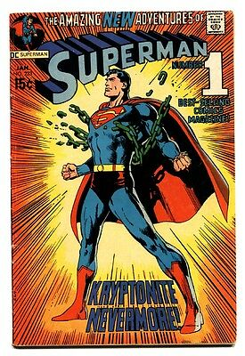 SUPERMAN #233-1971-comic book NEAL ADAMS COVER-Classic Cover