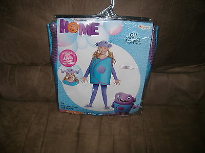 "Disguise Dreamworks Home ""Oh"" Costume Size 4-6X Poseable Ears-New"