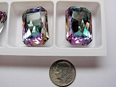 24 PIECES SWAROVSKI CRYSTAL STONES #4627 27x18MM - CRYSTAL VITRAIL LIGHT -FOILED