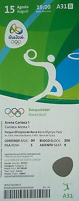 TICKET 15.8.2016 Olympia Rio Basketball Men's Spanien - Argentinien # A31