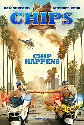 Chips - original DS movie poster - 27x40 D/S Adv Dax Shepard , Michael Pena