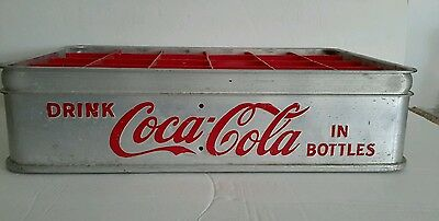 Vintage Rare Coca-Cola  Stadium Bottle Carrier - Aluminum- Embossed!