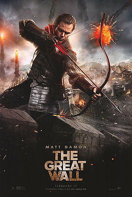 Great Wall - original DS movie poster - 27x40 D/S 2016 Matt Damon Final
