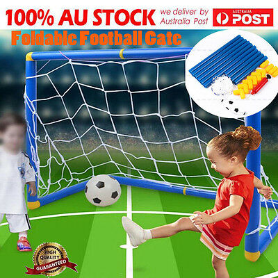 Foldable Football Gate Soccer Goal Pop Up Net Kids Outdoor Play Training Toy DHO