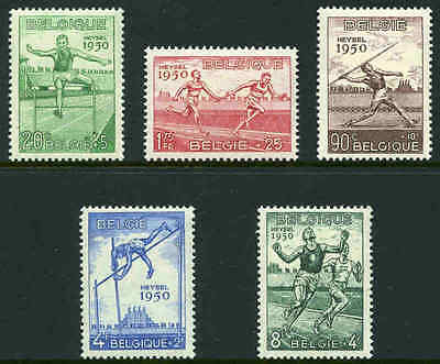 Belgium; 1950 Athletic Championship set MUH. Sg 1,311 - 1,315. Cat £95.00
