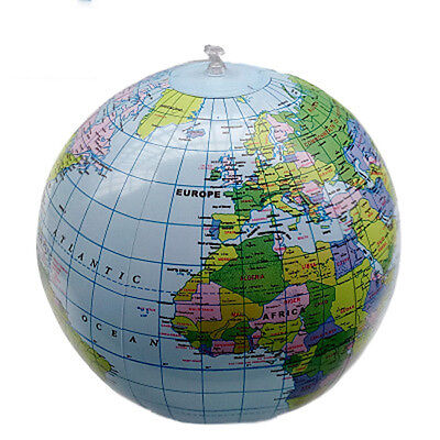 PVC Inflatable Earth Globe Home Decor Geographical Education Teaching Tool 40cm