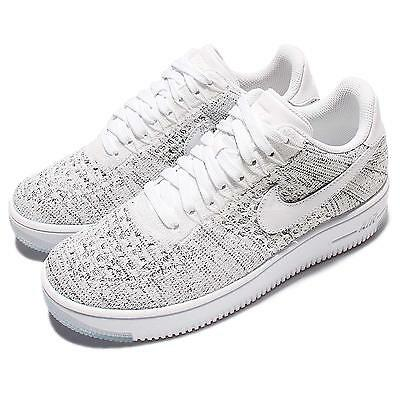 the latest 1cbaa d7f0b WMNS NIKE AF1 Flyknit Low White Grey Women Classic Air Force 1 Shoes  820256-103
