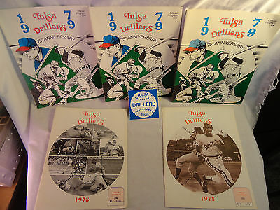 VINTAGE 1978-1979 Tulsa Drillers Official Souvenir Program Scorecard STICKER LOT