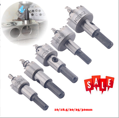 5PCS Stainless HSS Drill Bit Hole Saw Tooth Set Steel Metal Alloy Cutter 16-30mm