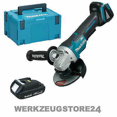 makita dga505y1j akku winkelschleifer 18v 1x 1 5 ah akku im makpac schleifen eur 189 00. Black Bedroom Furniture Sets. Home Design Ideas