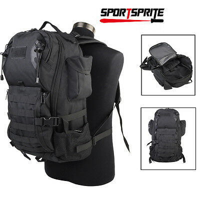 35L Tactical Military Hiking Camping Molle Assult Backpack Laptop Bag Pack Black