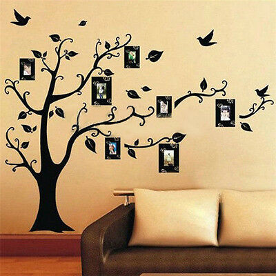 Black Tree Removable Decal Room Wall Sticker Vinyl Art DIY Decor Home  Family UK