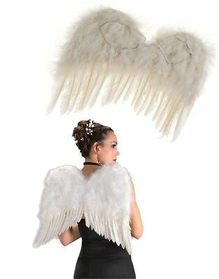 Child Girl's White Feather Costume Angel Accessory Wings