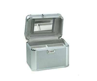 Comair Beauty-Case silver Beauty Case from Aluminium with mirror and