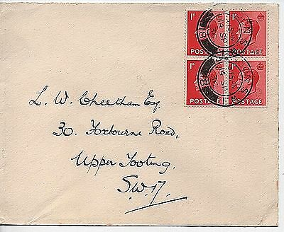 14-9-1936 KEVIII sg458 1d scarlet block First Day Cover