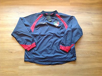 Leicester Tigers Long Sleeve Waterproof Training Top. Small.