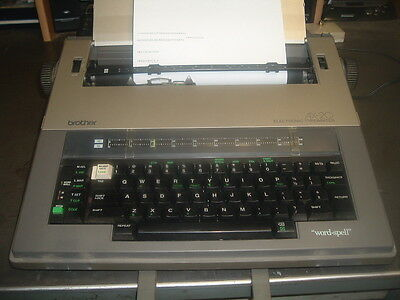 Brother Ax-20 Portable Electronic Typewriter W/cover - Fully Functional