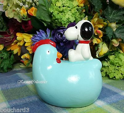Snoopy on Blue Chicken bank -composite material